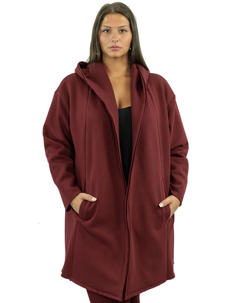 Hoodied Φούτερ Ζακέτα παλτό με τσέπες