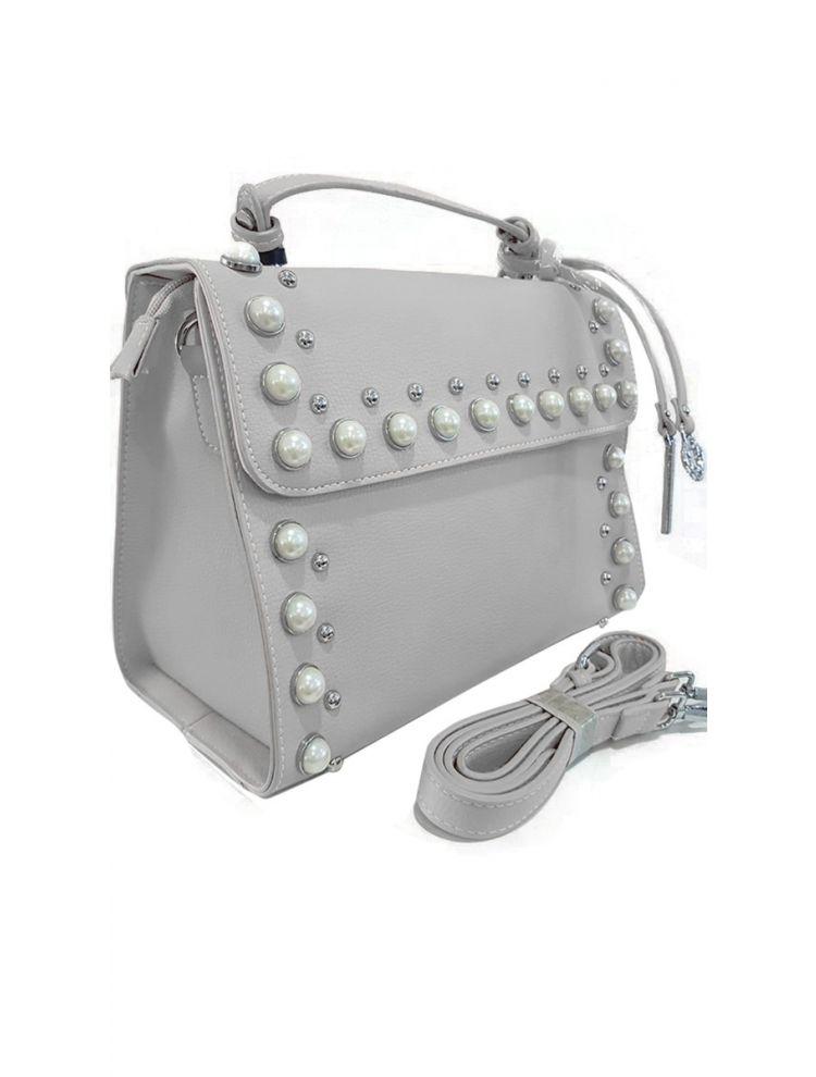 Τσάντα Pearl liner-Απαλό γκρι