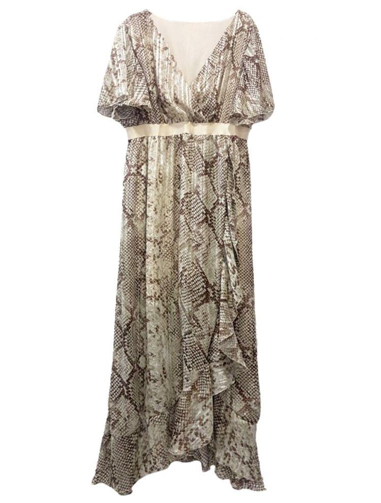 Snake Print Φόρεμα