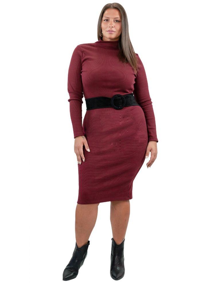 Bodycon Ρίπ Φόρεμα Ζιβάγκο