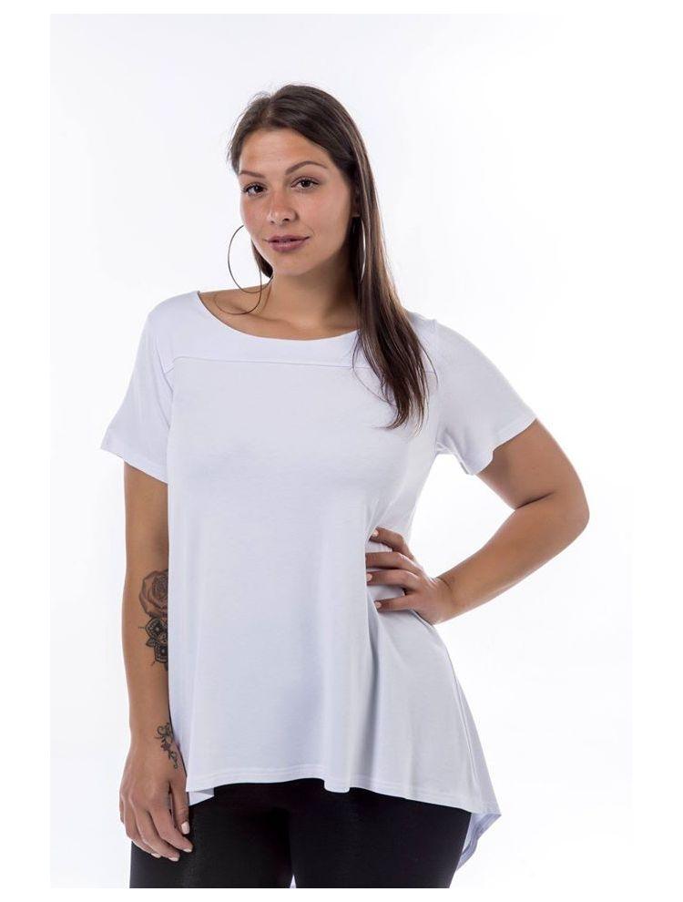 Μονόχρωμο κοντομάνικο t-shirt