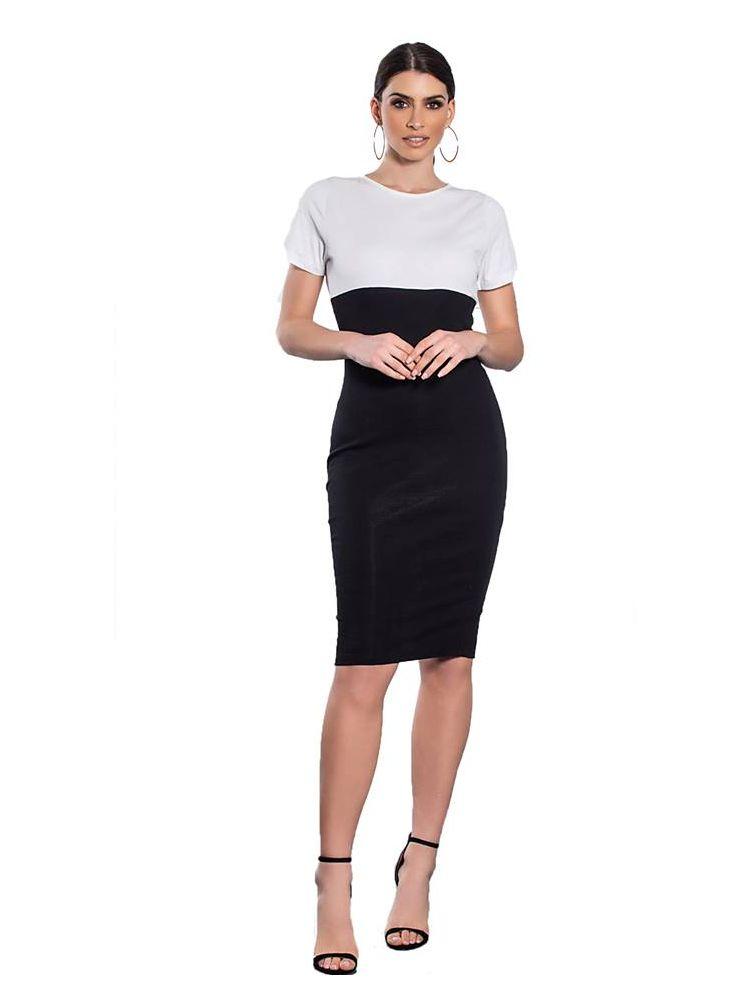 Εφαρμοστό φόρεμα Carine-S/M-Άσπρο