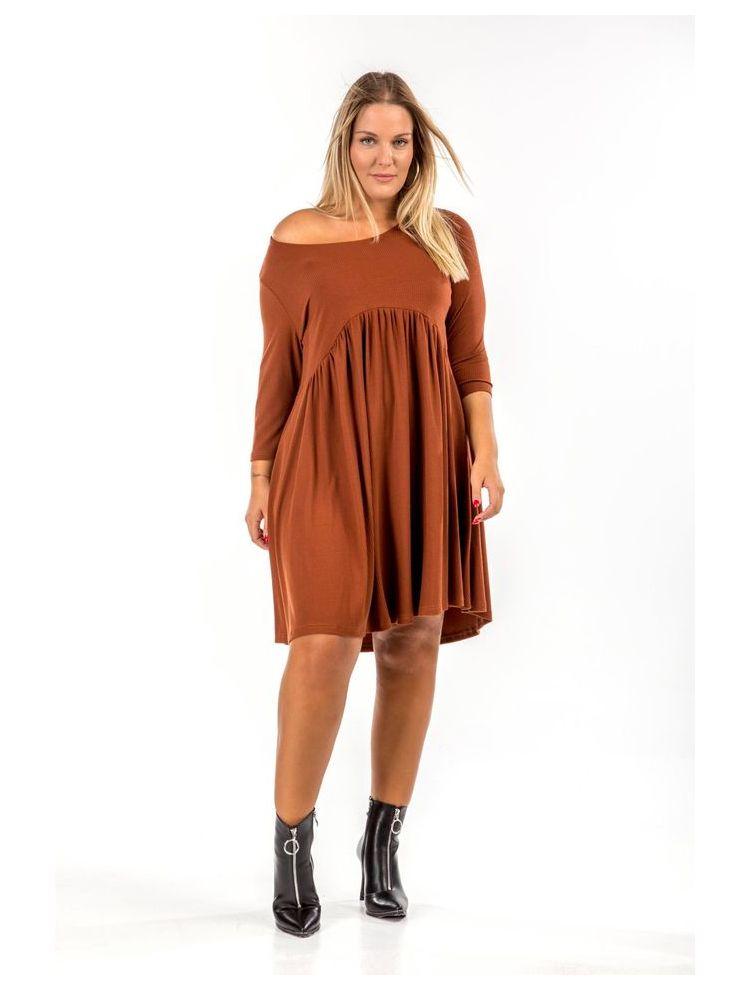 Μονόχρωμο mini φόρεμα ALICE