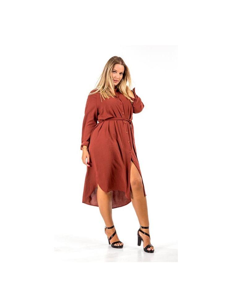 Φόρεμα Νicol-Καφέ-M/L