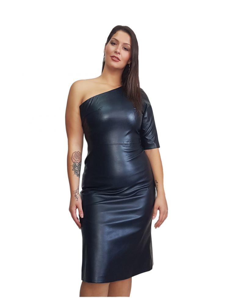 Eco-Leather Φόρεμα με έναν ώμο  SIA-S/M