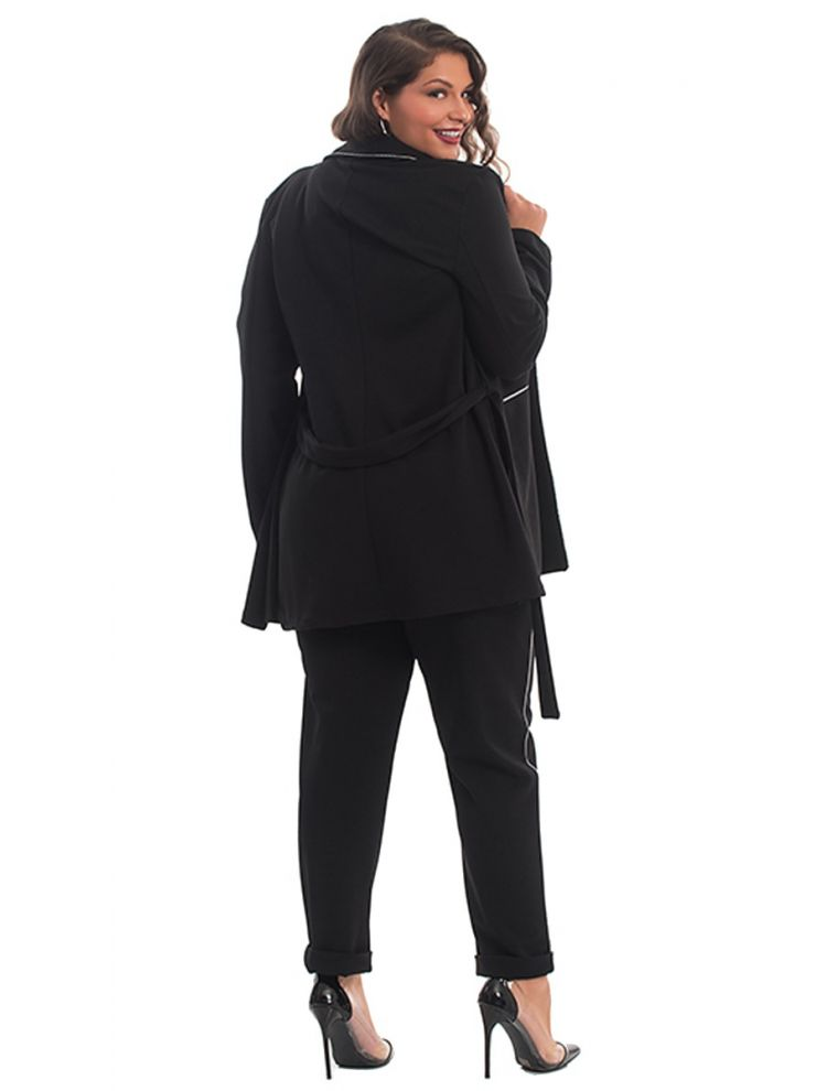 Ασορτί Σετ Σακάκι με Παντελόνα-Μαύρο-S/M
