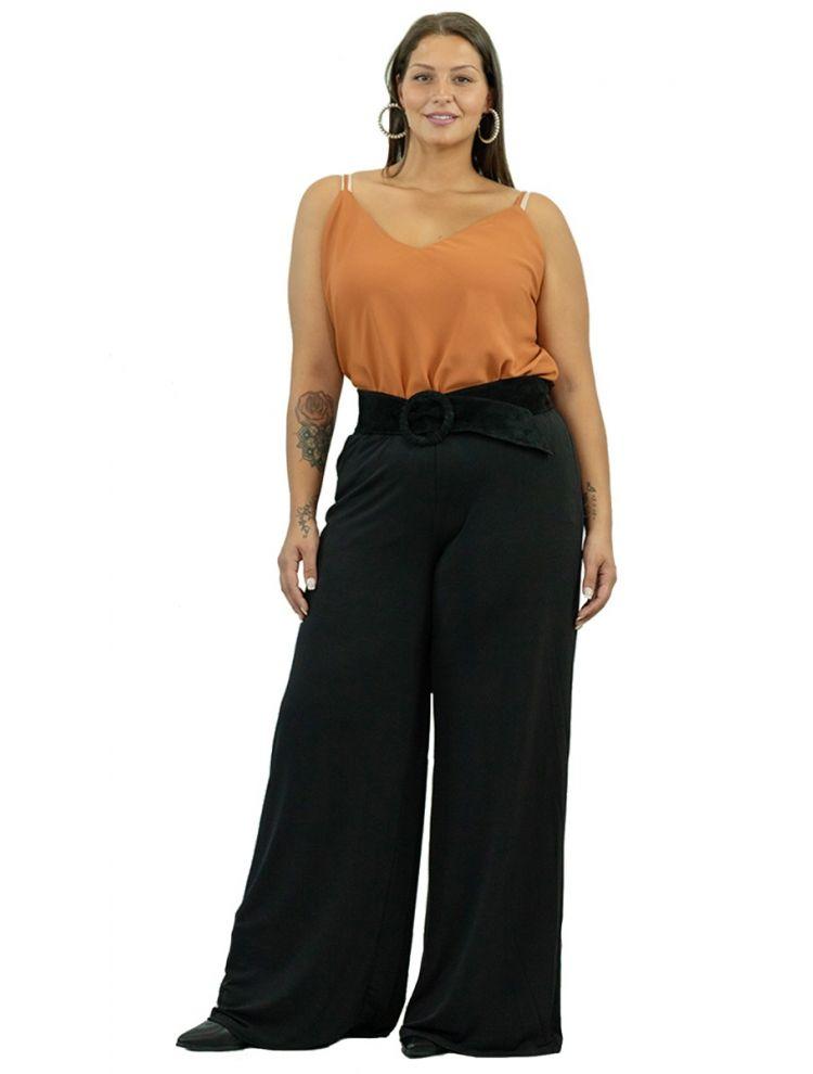 Παντελόνα Ελαστική με λάστιχο-Μαύρο-OneSize(up to 2XL)