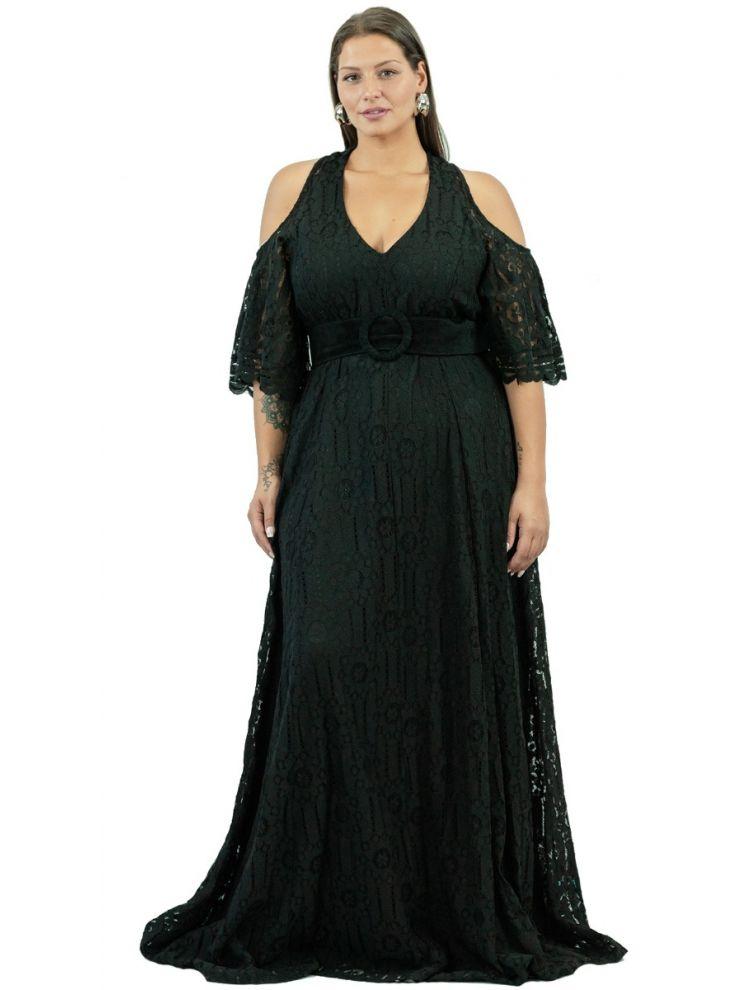 Μονόχρωμο Φόρεμα Δαντέλα