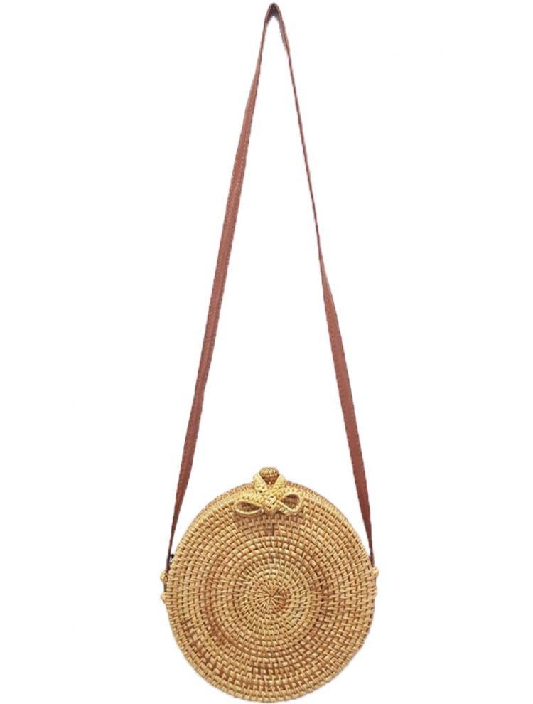Boho στρογγυλή τσάντα-Bamboo