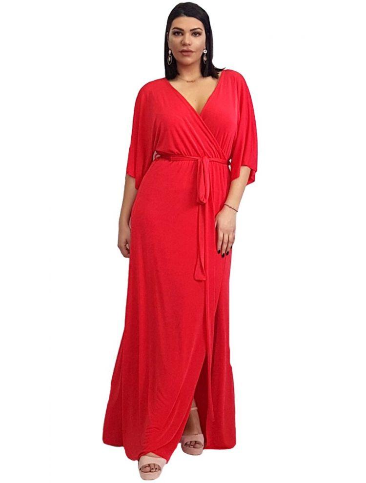 Κρουαζέ Φόρεμα με ζωνάκι και cut-out