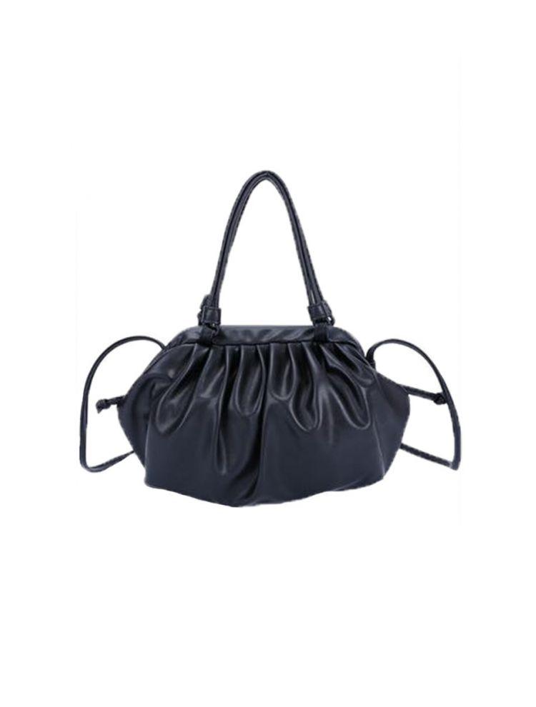 Μονόχρωμη Τσάντα με Σούρες Rosie