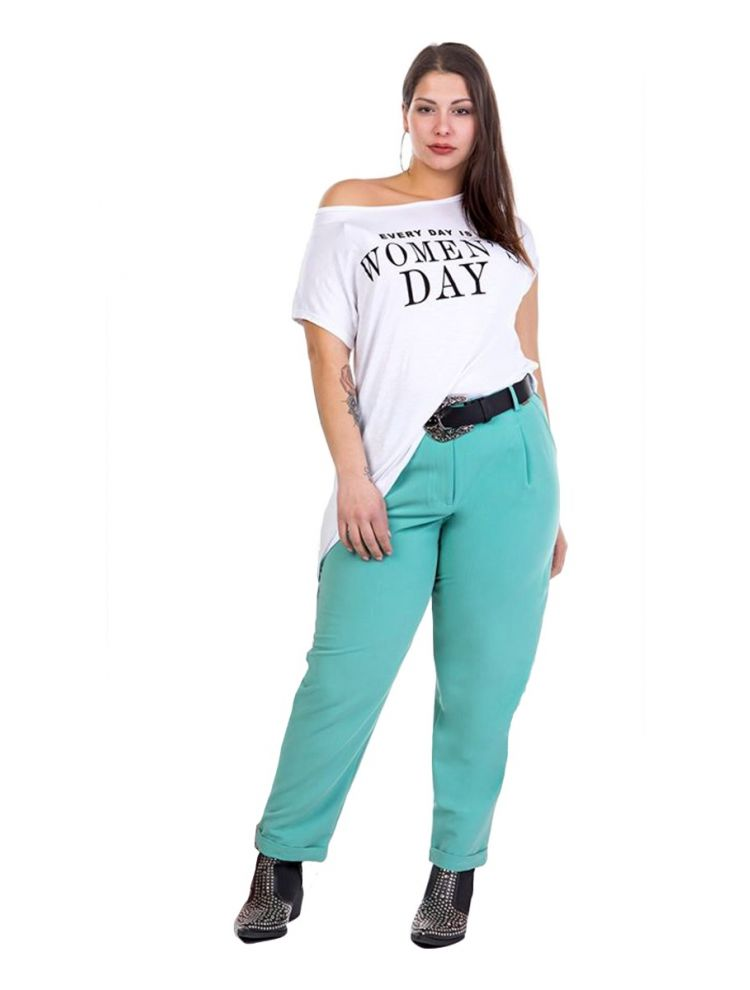 T-shirt Evey day is women's day -Άσπρο-OneSize(up to 2XL)