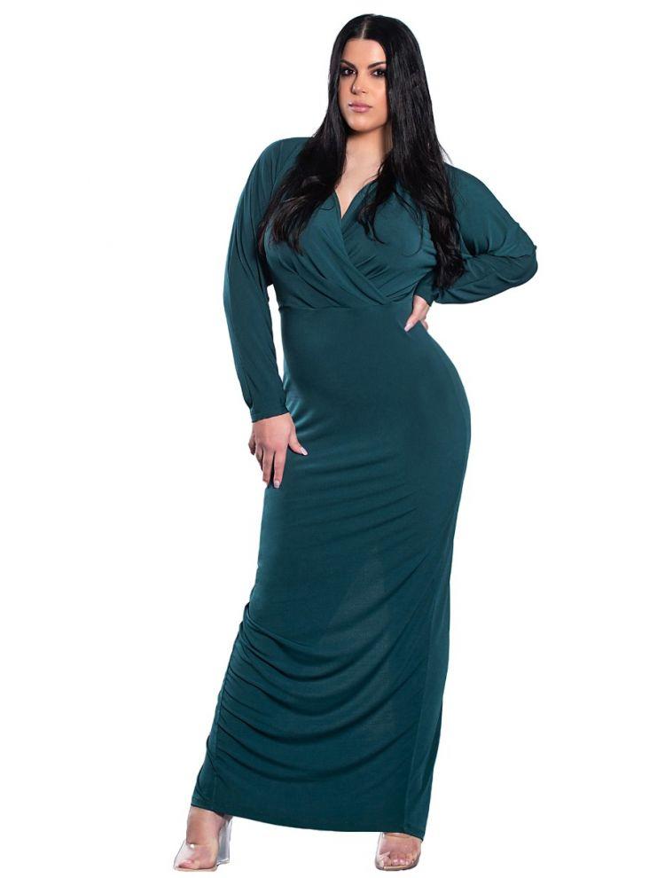 Μονόχρωμο maxi φόρεμα Billie