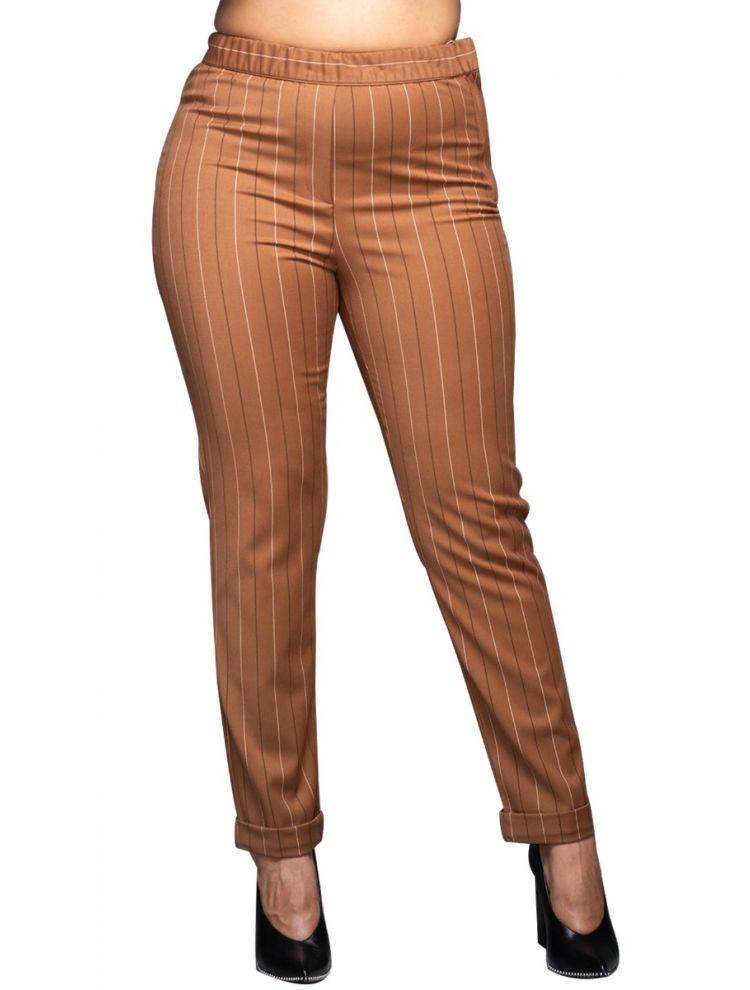 Παντελόνι ριγέ με γύρισμα-Ταμπά -S/M
