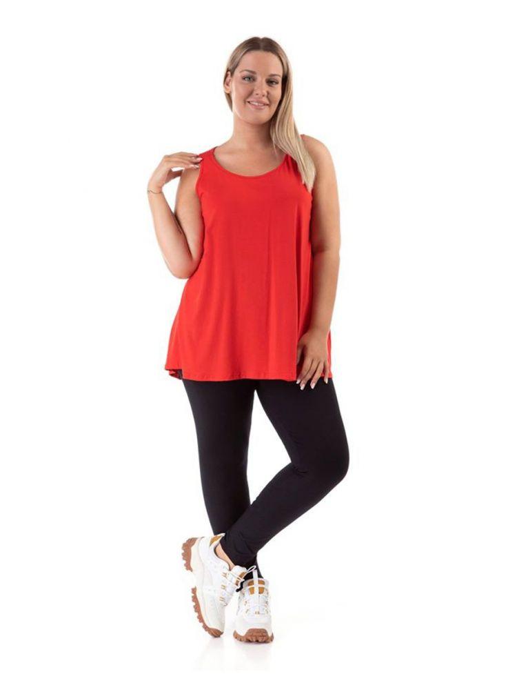 Μονόχρωμο Τ-shirt-Κόκκινο-OneSize(up to 2XL)