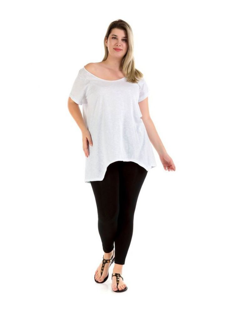 Μακριά μπλούζα Véro-Άσπρο-S/M