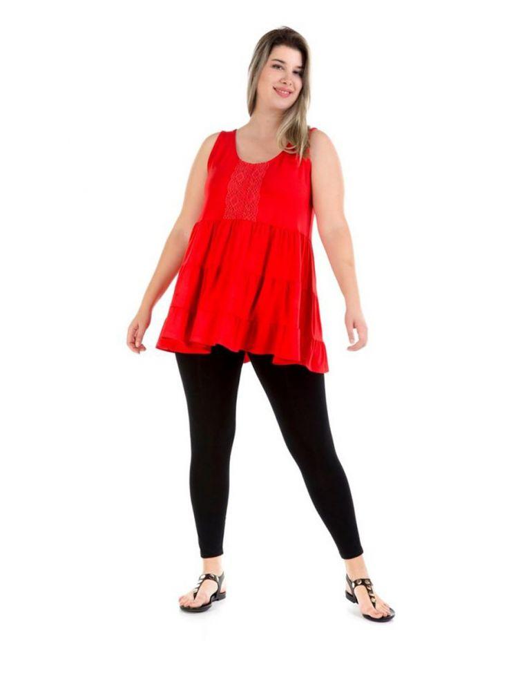 Αμάνικη μπλούζα Sabine-Κόκκινο-S/M