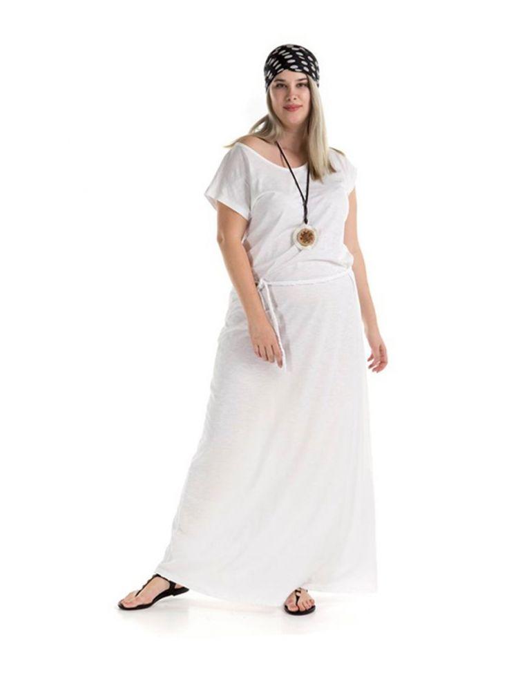 Μάξι φόρεμα Wanda-Άσπρο-S/M