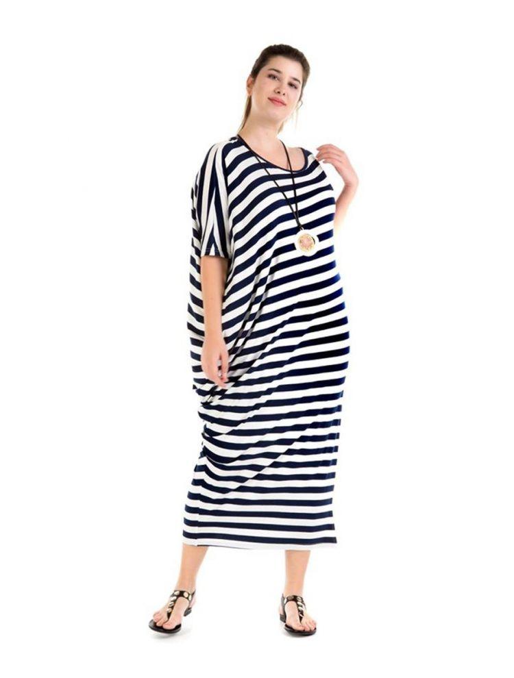 Μάξι φόρεμα με μανίκια Chloë-Άσπρο-S/M
