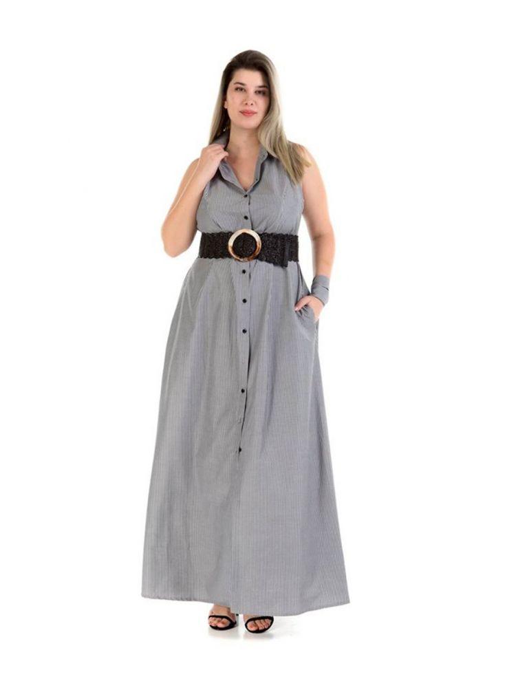 Μάξι φόρεμα - πουκαμίσα Sheila