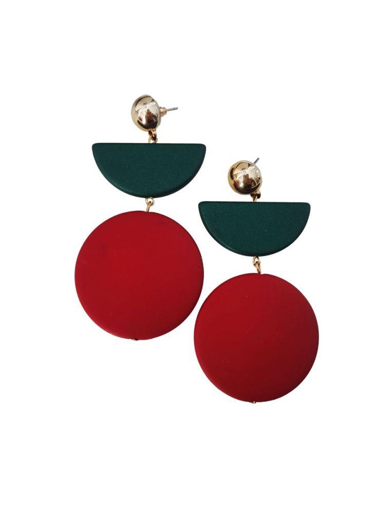 Σκουλαρίκια Mea-Πράσινο