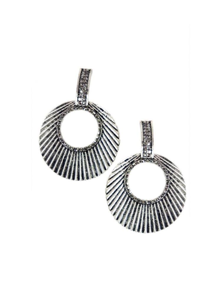 Σκουλαρίκια με Λεπτομέρειες Victoria-Ασημί