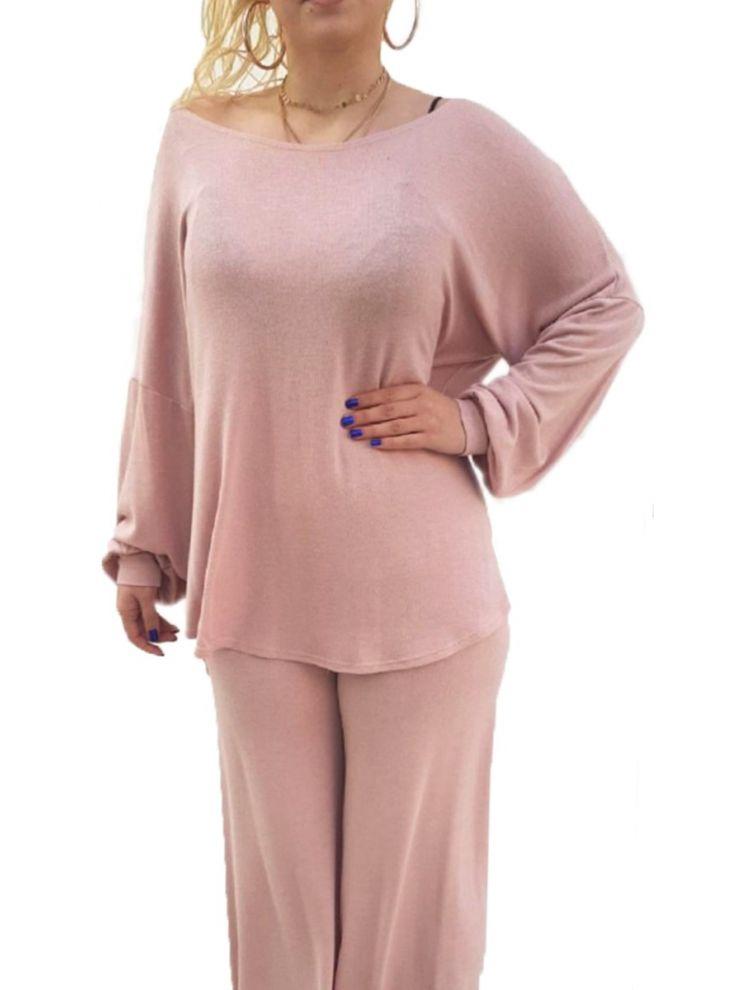 Μονόχρωμη μπλούζα με ανοιχτή πλάτη Ροζ-OneSize(up to XL)