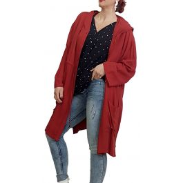 Άνετο Jacket-Ζακέτα με κουκούλα