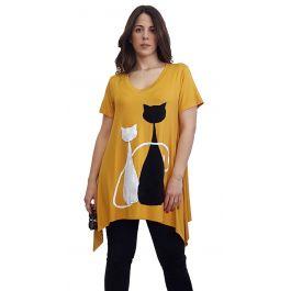 Oversize μπλούζα με γάτες