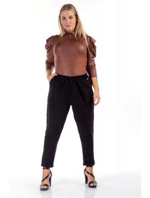 Παντελόνι υφασμάτινο με λάστιχο