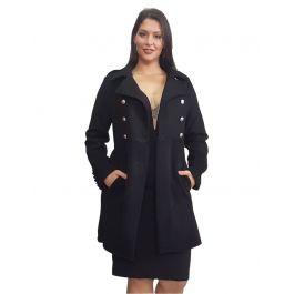 Lux Βελούρ παλτό με sheepskin τελείωμα κουμπιά & τσέπες