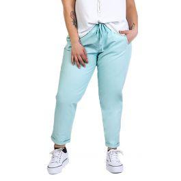 Μονόχρωμο δερματίνη παντελόνι