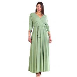 Μάξι Μονόχρωμο Φόρεμα με Δέσιμο στη Μέση