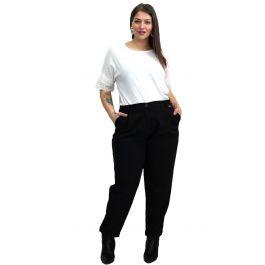 Μονόχρωμο παντελόνι με τσέπες και λάστιχο στη μέση