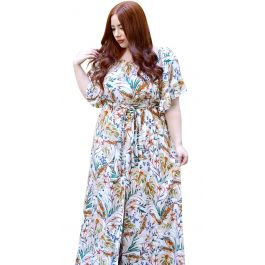 Μάξι Floral Bardot Φόρεμα Aida