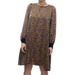 Leopard Φόρεμα με Φάσα στα μανίκια