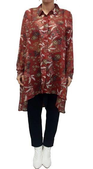 Φλοράλ πουκαμίσα τουνίκ