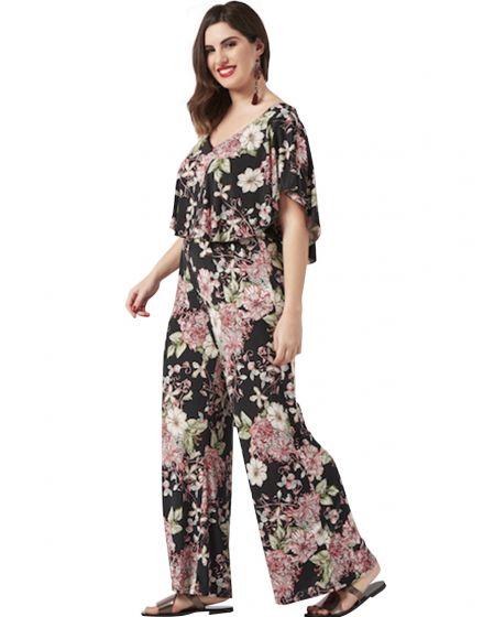 Ολόσωμη φλοράλ φόρμα ντραπέ