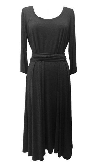 Midi Ανάλαφρο Φόρεμα με τρία τέταρτα μανικι